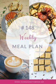 Brand new Weekly Meal Plan loaded with delicious recipes to help you plan out your week! Delicious Recipes, Yummy Food, Meal Planing, Recipe Organization, Organizing, Clean Eating, Greek, Easy Meals, Notebook