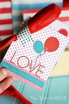 Free Printable and Balloon Valentines Idea... Who knew that a sugar free Valentines could be so sweet?
