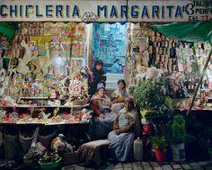 Two worlds Mercado de las brujas and modern pharmacy - La Paz, Bolivia --  Vance Gellert