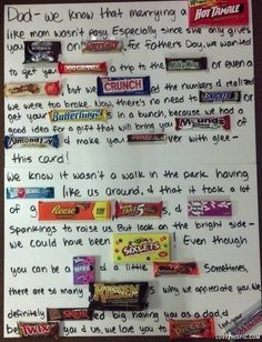 these are some really cute ideas for the candy grams! Does anyone know what the 6th chocolate bar is? and the 6th from the last as well?