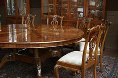 Gallery Of Large Wood Dining Room Tables Images Oversized Round Table Mahogany
