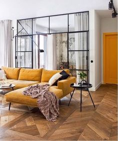 """159 Likes, 4 Comments - BoConcept Sydney (@boconceptsydney) on Instagram: """"The striking Carlton sofa in bold mustard fabric looks as good in a classic space as it does a…"""""""