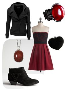 Burgundy Rhapsody by denovia on Polyvore featuring polyvore, fashion, style, Doublju, BCBGeneration, Boohoo and Reeds Jewelers