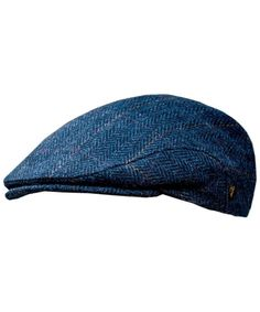 de330b7a73539 Men s Donegal Tweed Flat Cap Traditional style- Modern fashion item Blue  CD11RPFPIRP