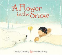 A flower in the snow