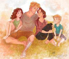 Hunger Games- Katniss, Peeta, Prim Rue and Finnick Peeta