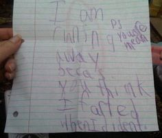 I am so silly...but this made me laugh so hard... I don't know why... Maybe because I teach 3rd grade and it looks like something they would write.