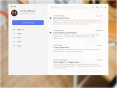 Minimal Mail App for Mac - Free sketch resource for download #sketchhint #sketch #resource #app #freebie #free