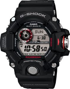 G-Shock GW9400-1. A weather geek's dream--G-Shock watch with thermometer, barometer, altimeter, compass