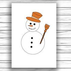 Otthon elkészíthető ovis fejlesztő játék Craft Free, Snowman, Crafts For Kids, Disney Characters, Printables, Bricolage Noel, Creative, Crafts For Children, Kids Arts And Crafts