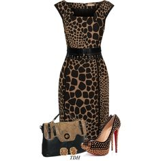 MK Dress by talvadh on Polyvore featuring Michael Kors, Christian Louboutin, Buxton, Vince Camuto and Alaïa