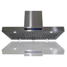 AKDY European Style Island Mount Stainless Steel Range Hood Ventless ductless Touch Control AZ-GL9010-1-36 at Sears.com