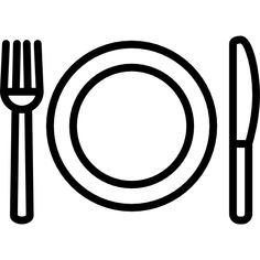 Fork Plate and Knife free vector icon designed by Freepik