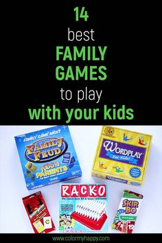 Want to take family night to the next level? Add these 14 games to your game closet. #gamenight
