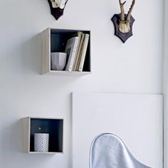 Meubles muraux on pinterest cube shelves ikea and murals - Etagere murale carree ...