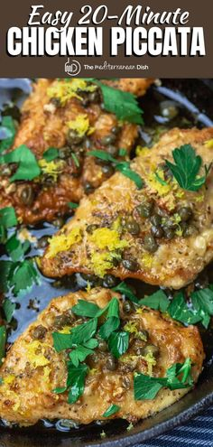 This easy recipe & pro tips is all you need to make the best lemon chicken piccata! Perfectly tender, flavor packed, ready in less than 20 mins! Mediterranean Dishes, Mediterranean Diet Recipes, Turkey Recipes, Chicken Recipes, Dinner Recipes, Turkey Dishes, Dash Recipe, Lemon Chicken Piccata, Healthy Comfort Food