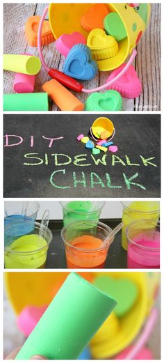 DIY Scented Sidewalk Chalk - Super easy to make and draws better and more vibrant than even store-bought chalk! #EarlyMemories
