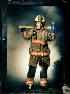 Aimee (Anderson) Thatcher is one of 27 women among 650 firefighters in the Las Vegas Fire and Rescue Department, and the sole woman in her station of