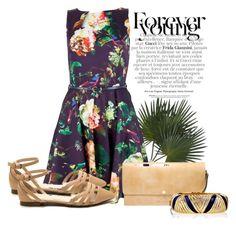 """Closet Winter Floral Skater Dress, Multi"" by ljbminime ❤ liked on Polyvore featuring moda, Closet, Marni, Ciner, dresses, skaterdress, daydresses e polvoretrends"