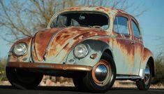 Art Bug: 1957 VW Beetle - http://barnfinds.com/art-bug-1957-vw-beetle/