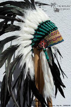 All Black Feather Headdress Gypsy Silk. $135.00, via Etsy.