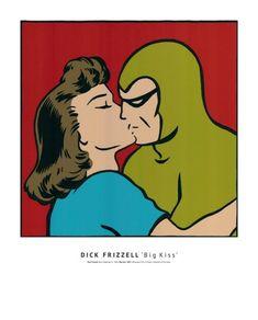 Dick Frizzell's Big Kiss Print