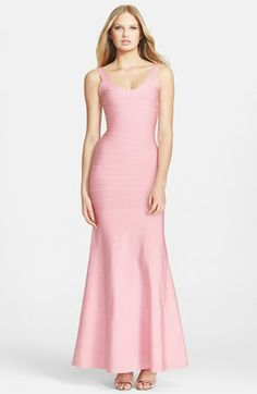Herve Leger Mermaid Bandage Gown available at #Nordstrom