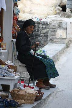 Old woman in Olympos - Karpathos
