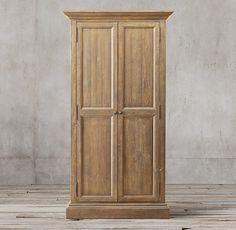 Salvaged Wood Panel Double-Door Cabinet