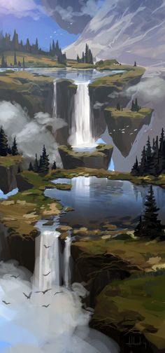 Mountain pond by Andead.deviantart.com on @deviantART