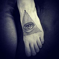 Eye of Providence Foot Tattoo by 2k