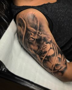 Lion on arm lion tattoo lion tattoo realistic lion arm tattoo . - Lion on arm lion tattoo lion tattoo realistic lion arm tattoo - Lion Arm Tattoo, Lion Tattoo Sleeves, Best Sleeve Tattoos, Wrist Tattoo, Leo Tattoos, Animal Tattoos, Body Art Tattoos, Tattoos For Guys, Celtic Tattoos
