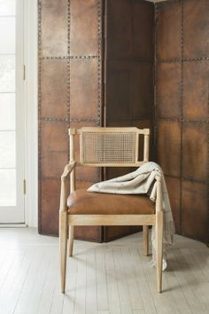 The Style Files: Timothy Corrigan Leather Wall Panels, Upholstered Wall Panels, Wall Treatments, Wall Design, Wall Decor, Wall Art, Interior Design, Furniture, Home Decor