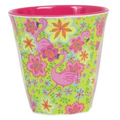Melamine Cup Two Tone with Flamingo Print - Rice A/S