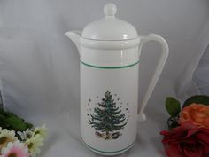 NIKKO Happy Holidays Christmas Tree Carafe  by SecondWindShop, $20.00