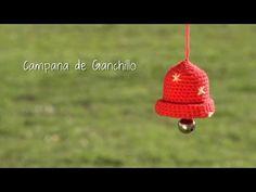 Cómo hacer una campana de ganchillo para Navidad   Crochet Christmas bell - YouTube