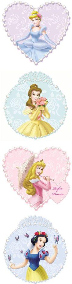Disney Princess and Pearls 4 Piece Art Wall - adesivos de parede Tomada