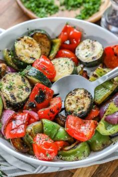 recipe is filled with good vegetables to grill. Whether doing on skewers, a grill mat, or grill basket, just toss in this tangy marinade and pop on the grill! Best Grilled Vegetables, Grilled Vegetable Skewers, Bbq Vegetables, Grilled Vegetable Recipes, Marinated Vegetables, Grilled Food, Veggie Kabobs, Grilled Recipes, Veggie Meals