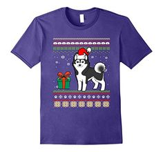 Marry Christmas to all Husky love. If you are looking Christmas gift for your friends and family so here is a Top 10 Siberian huskie Christmas t-shirts. Husky Cross Breeds, Pet Fashion, Christmas Animals, Ugly Christmas Sweater, Mens Tops, T Shirt, Gifts, Clothes, Supreme T Shirt
