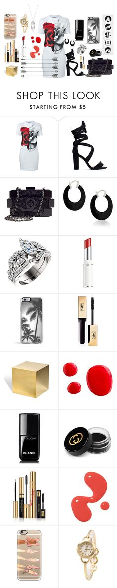 """""""Too Grotesque"""" by mysticsjy ❤ liked on Polyvore featuring McQ by Alexander McQueen, Chanel, Bling Jewelry, Lancôme, Zero Gravity, Interlude, Gucci, Yves Saint Laurent, Casetify and Lucky Brand"""
