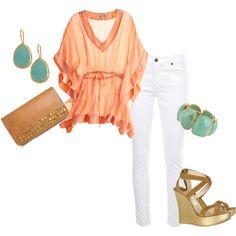 Love love LOVE the peach/jade color combo.