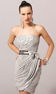 Silver dresses bridesmaid dress. i love this