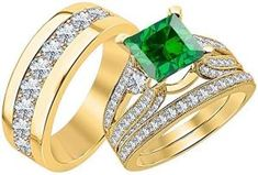 Mens Emerald Ring brings good luck and enhances well being of the wearer. Emerald is the stone of successful love and grants loyalty to its wearers. Mens Emerald Rings, Emerald Gemstone, Rose Gold Diamond Ring, Rose Gold Engagement Ring, Tungsten Wedding Bands, Wedding Rings, Sterling Silver Rings, Gold Rings, May Birthstone Rings