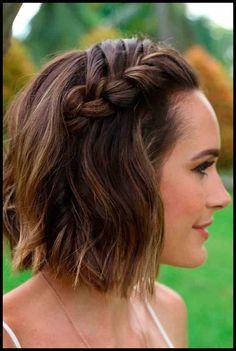 4e419a920a 30 Cute Braided Hairstyles for Short Hair | My Style | Frisuren ...
