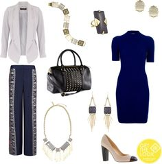 """Color Crush: Midnight Blue + Slate Gray"" by kendrascott on Polyvore"