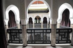 Mashrabiya balustrade in La Mamounia