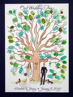 Items similar to Wedding Thumbprint Tree on Etsy Plan My Wedding, Wedding Guest Book, Dream Wedding, Wedding Day, Thumbprint Tree, Diy Wedding Projects, Diy Projects, Guest Book Tree, Cute Love Images