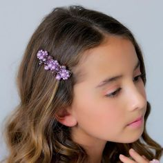 The best selection of designer girls hair clips hand made with crystals and pearls by Sienna Likes To Party. Flower Girl Hair Accessories, Bridal Accessories, Luxury Girl, Flower Girl Hairstyles, Pretty Face, Hair Clips, Lilac, Hair Styles, Hair Accessory