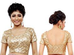 Make your own style statement with sequins work sliver color choli. Item code : BKDUP4 http://www.bharatplaza.com/accessories/designer-cholis.html