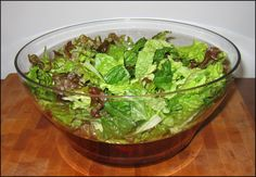 Keep salad fresh for a week....wash chop run through salad spinner put paper towel atop leaves and cover tightly.